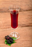 Mulberry juice. Royalty Free Stock Photos