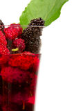 Mulberry juice. Royalty Free Stock Photo