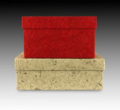 Mulberry paper box royalty free stock photography