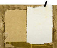 Mulberry paper on Cardboard Scrap  Royalty Free Stock Photo