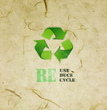 Mulberry paper  with Eco sign Stock Image