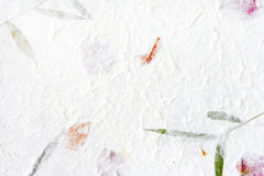 Mulberry paper with red flower Stock Photo