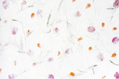 Mulberry paper with red flower Stock Image