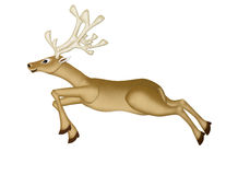 Mulberry Paper of a Reindeer Christmas. (runing) on white background royalty free illustration