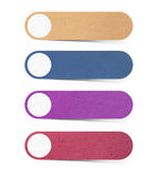Mulberry paper tag collection. With whtie background royalty free illustration