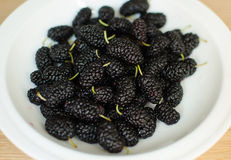 Mulberry on a plate Stock Photo
