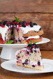 Mulberry and red currant cake Royalty Free Stock Photography