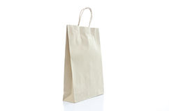 Mulburry paper bag on white background Royalty Free Stock Photo