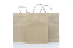 Mulburry paper bag on white background Royalty Free Stock Images