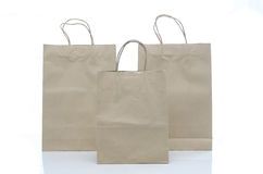 Mulburry paper bag on white background Stock Images