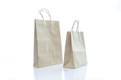 Mulburry paper bag on white background Royalty Free Stock Image