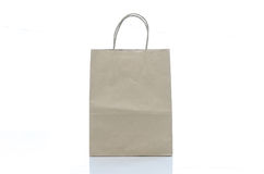 Mulburry paper bag on white background Royalty Free Stock Photography