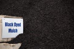 Mulch покрашенный чернотой Стоковые Фото