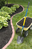 Mulch Bed With Edging Royalty Free Stock Photo
