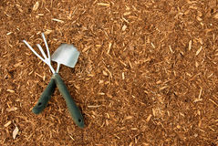 Mulch and Garden Tools Royalty Free Stock Photo