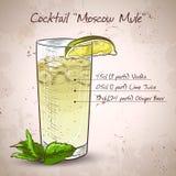 Mule de Moscou de cocktail illustration de vecteur