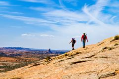 Mule Ear Hikers royalty free stock image