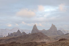 Mule Ears as the Fog Lifts Big Bend National Park Stock Image