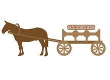 Mule et chariot Images libres de droits