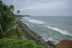 Mulen dag som ser in mot Indiska oceanen Arkivbilder