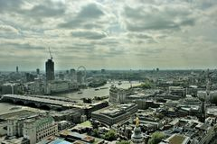 Mulen London Cityscapehorisont Royaltyfri Fotografi