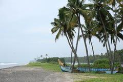 Mulen stranddag i sydliga Indien Arkivbilder