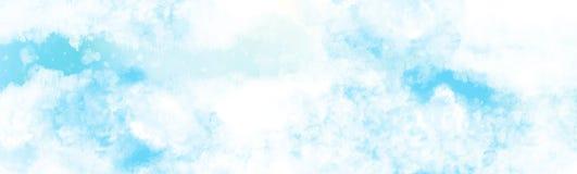 mulet ovanför molnakvarellmålningen stock illustrationer