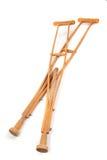 Muletas de madeira fotografia de stock royalty free