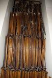 Muletas en St Joseph Oratory - Montreal - Canadá Imagen de archivo libre de regalías
