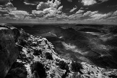 Muley Point Overlook Mexican Hat UT Black and White Stock Photography