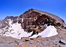 Mulhacen - toppig bergskedja Nevada Arkivfoton