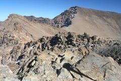 Mulhacen toppmöte i Sierra Nevada berg royaltyfri bild