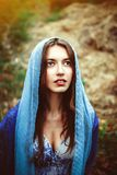 A mulher é muçulmana foto de stock royalty free