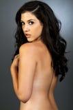 Mulher étnica bonita com cabelo escuro imagem de stock royalty free