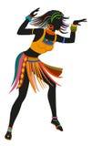 Mulher étnica do africano da dança Fotografia de Stock
