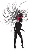 Mulher 01 da dança Ilustração do Vetor
