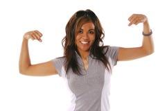 Mulher 5 do exercício Fotografia de Stock