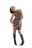 Mulher 70s Funky Fotografia de Stock