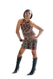 Mulher 70s Funky Fotografia de Stock Royalty Free