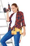 Mulher acessível feliz segura de DIY Imagens de Stock