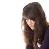 Mulher adolescente nova com depressão Fotografia de Stock Royalty Free