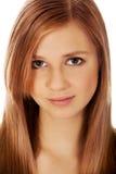 Mulher adolescente que sorri no humor alegre Imagem de Stock Royalty Free