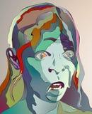 Mulher adulta art. ilustração stock