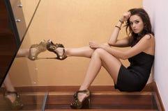 Mulher adulta bonita da sensualidade imagens de stock