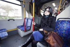 Mulher do ônibus Fotografia de Stock Royalty Free