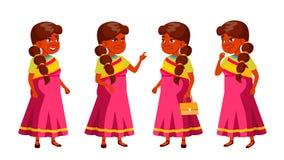 A mulher adulta indiana levanta vetor ajustado Pessoas adultas Pessoa superior envelhecido Pensionista cômico lifestyle Cartão, t ilustração do vetor