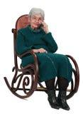 Mulher adulta no telefone foto de stock royalty free
