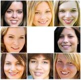 Mulher adulta nova de sorriso fotos de stock