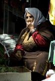 Mulher adulta que vende ervas, Jerusalem Foto de Stock