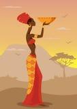 Mulher africana ilustração royalty free